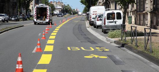 De nouveaux aménagements pour les cyclistes à Bordeaux